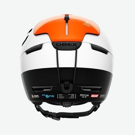 Kask POC OBEX BC SPIN HYDROGEN WHITE/ FLUORESCENT ORANGE SHINY