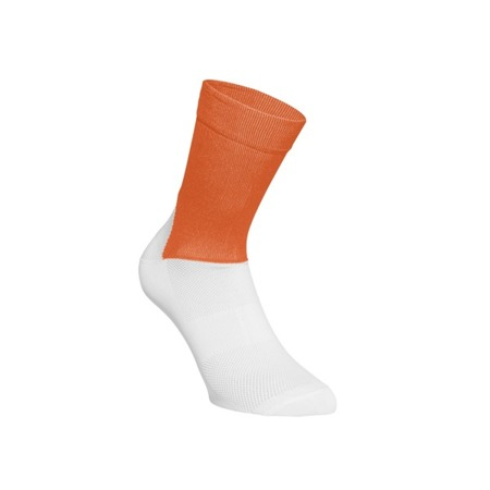 Skarpetki POC ESSENTIAL ROAD SOCKS Zink Orange/Hydrogen White